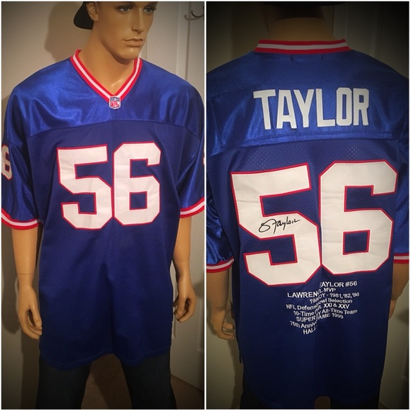 on sale 354ae cef25 Mitchell & Ness Lawrence Taylor Giants Jersey 56